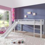 Alex Halfhoogslaper Basic Wit + Glijbaan – kleur: Wit – Beds and More