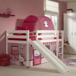 Alex Halfhoogslaper + Glijbaan + Hello Kitty Bedtent – kleur: Wit – Beds and More