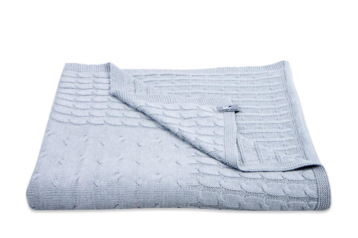 Baby 39 s only ledikant deken uni kabel licht grijs for Ledikant grijs