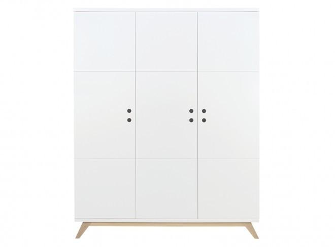 Bopita 3-deurskast Lynn - kleur: Wit - Bopita