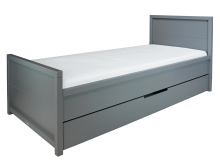 Bopita Bed 90x200 Napoli Pebble Grey