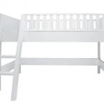 Bopita Nordic Halfhoogslaper 90×200 cm Schuine Trap – kleur: Wit – Bopita