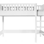 Bopita Nordic Hoogslaper 90×200 cm Rechte Trap – kleur: Wit – Bopita