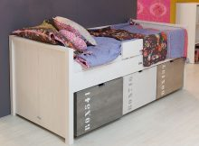 Bopita Tienerbed Basic Wood + 3 speelgoedbakken