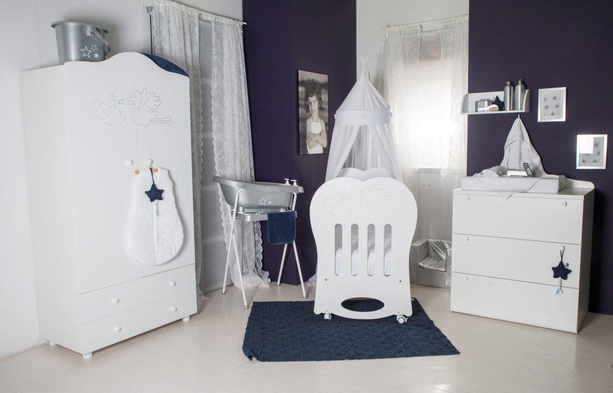 Born Lucky Babykamer Crystal - kleur: Wit - Born Lucky