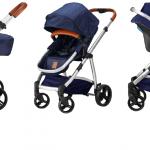 Born Lucky Rapido Kinderwagen Starlight Blue – kleur: Blauw – Born Lucky