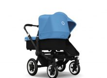 Bugaboo Donkey+ Duo Black - Ice Blue
