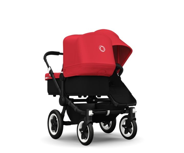 Bugaboo Donkey+ Duo Black - Red - kleur: Rood - Bugaboo