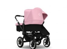 Bugaboo Donkey+ Duo Black - Soft Pink