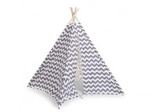 Childhome Tipi Tent Zigzag Grijs/Wit