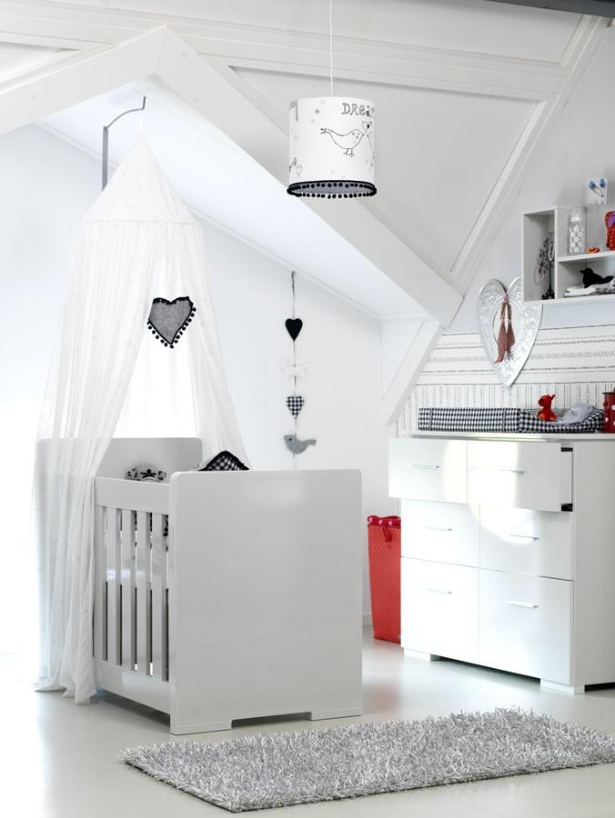 Coming Kids Babykamer Grey Hoogglans - kleur: Wit - Coming Kids