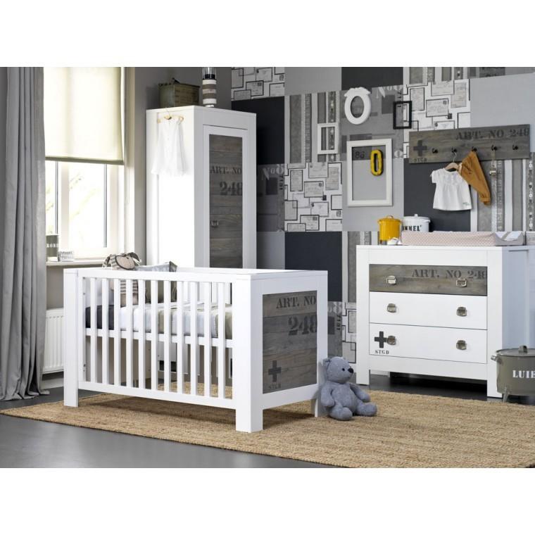 2 Delige Babykamer.Coming Kids Babykamer Stapelgoed Urban Wit 2 Delig Bt10060101set1