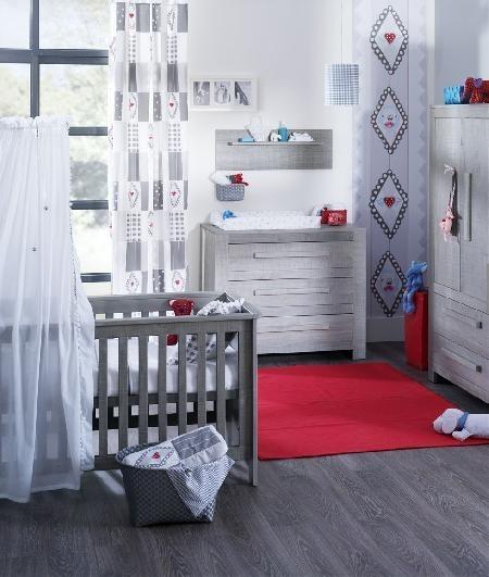 Coming Kids Babykamer Zanzi - kleur: Grijs - Coming Kids