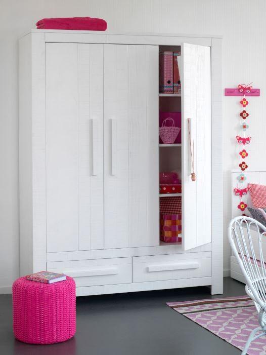 Coming Kids Hang-legkast Salty 3 deuren / 2 lades - kleur: Wit - Coming Kids