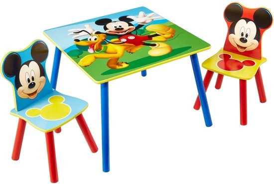 Disney Mickey Mouse Tafel met Stoeltjes - kleur: Blauw - Beds and More