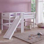 Eliyas Halfhoogslaper met Glijbaan – kleur: Wit – Beds and More