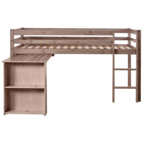 flexa basic halfhoogslaper uitschuifbureau terra bt80 06301 11 81 09701 11. Black Bedroom Furniture Sets. Home Design Ideas