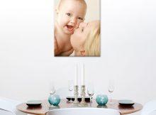 Foto op aluminium - wit (40x60cm)
