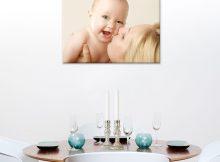 Foto op aluminium - wit (60x40cm)