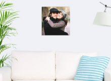 Foto op hout - planken (40x40 cm)