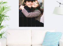 Foto op hout - planken (60x80 cm)