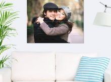 Foto op hout - planken (80x60 cm)