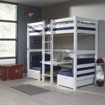 Hoogslaper / Stapelbed Finley Blauw – kleur: Blauw – Beds and More