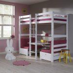 Hoogslaper / Stapelbed Finley Roze – kleur: Roze – Beds and More