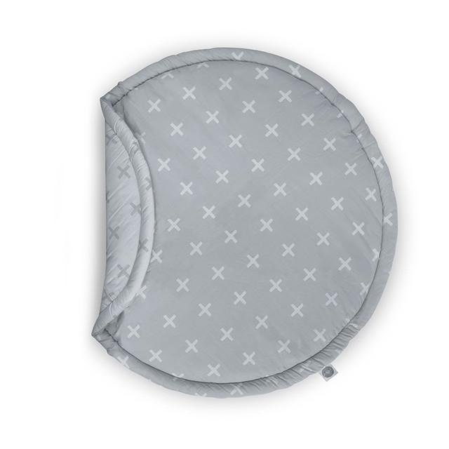 Jollein Boxkleed rond ø 110cm Plus grey - kleur: Grijs - Jollein