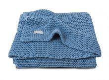 Jollein Ledikantdeken Heavy Knit Blue