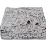 Jollein Ledikantdeken Heavy Knit Light Grey – kleur: Grijs – Jollein
