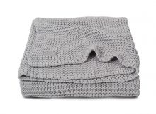 Jollein Ledikantdeken Heavy Knit Light Grey