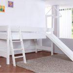 Kim Halfhoogslaper Basic Wit + Glijbaan – kleur: Wit – Beds and More
