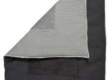 Koeka Boxkleed Amsterdam Wafel Silver Grey / Dark Grey Large