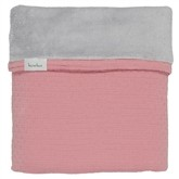 Koeka Ledikantdeken Elba Old Pink/Silver Grey - kleur: Roze - Koeka