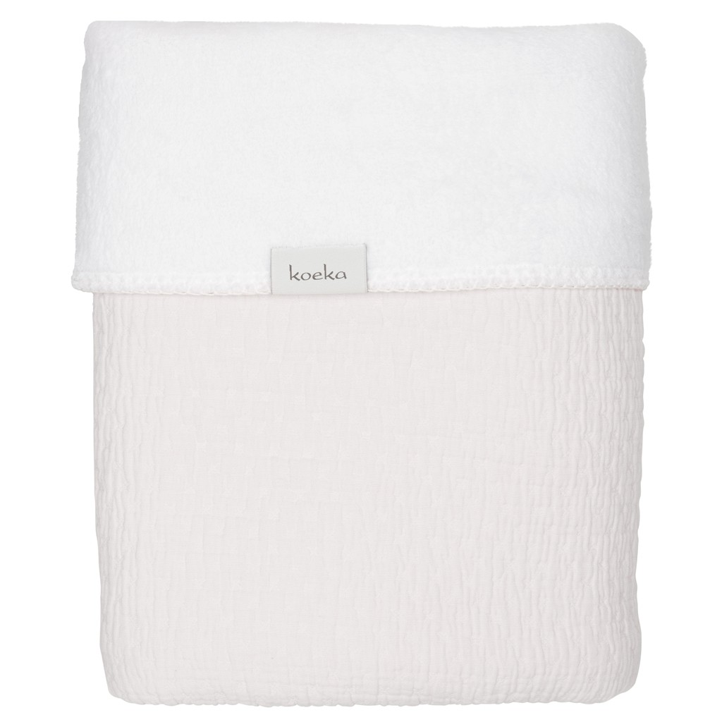 Koeka Ledikantdeken Elba Pebble/White - kleur: Wit - Koeka