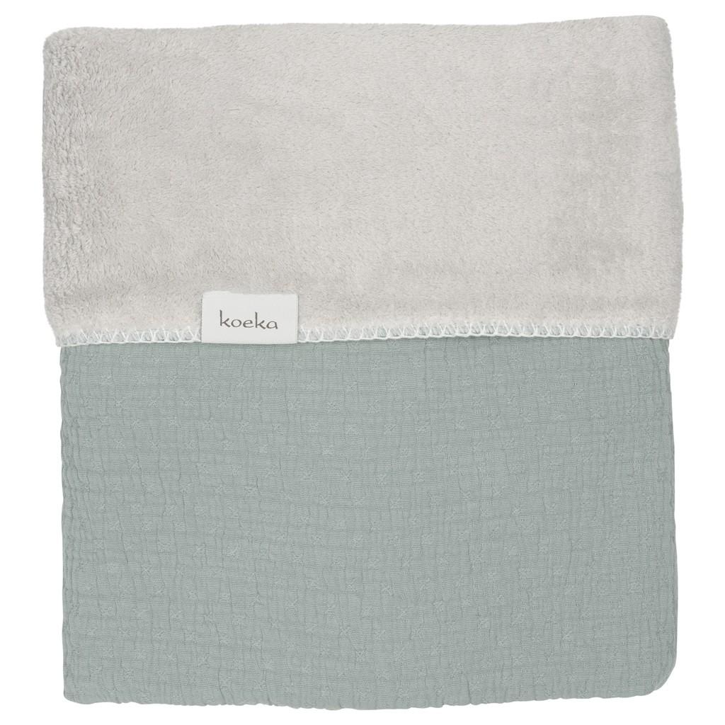 Koeka Ledikantdeken Elba Sapphire/Silver - kleur: Groen - Koeka