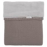 Koeka Ledikantdeken Elba Taupe/Silver Grey - kleur: Taupe - Koeka
