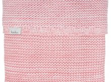 Koeka Ledikantdeken Porto Tea Rose/Baby Pink/White