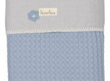 Koeka Ledikantdeken Wafel Antwerp Soft Blue/Silvergrey