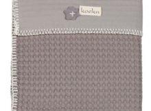 Koeka Ledikantdeken Wafel Antwerp Taupe / Soft Grey