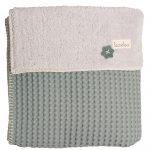 Koeka Ledikantdeken Wafel Teddy Oslo Sapphire – kleur: Groen – Koeka