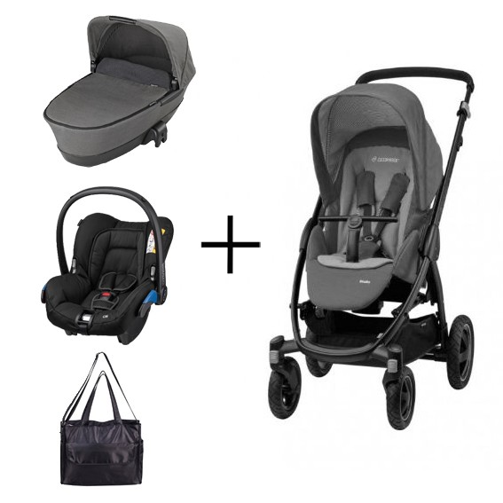 maxi cosi stella concrete grey pack nu met gratis accessoires babykamer winkel. Black Bedroom Furniture Sets. Home Design Ideas