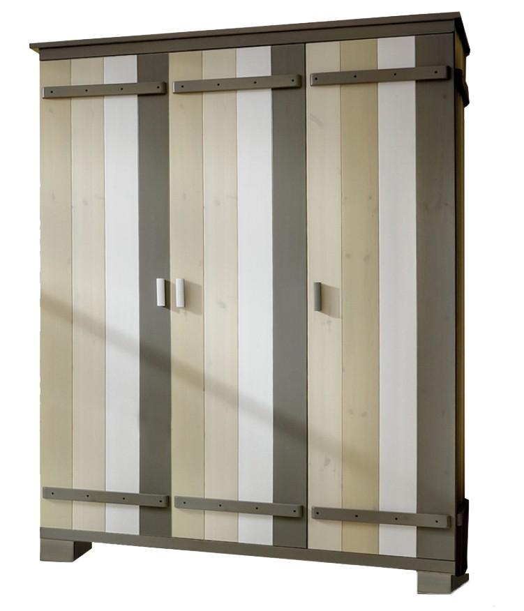 Merlin Kledingkast 3-deurs - kleur: Zand - Beds and More