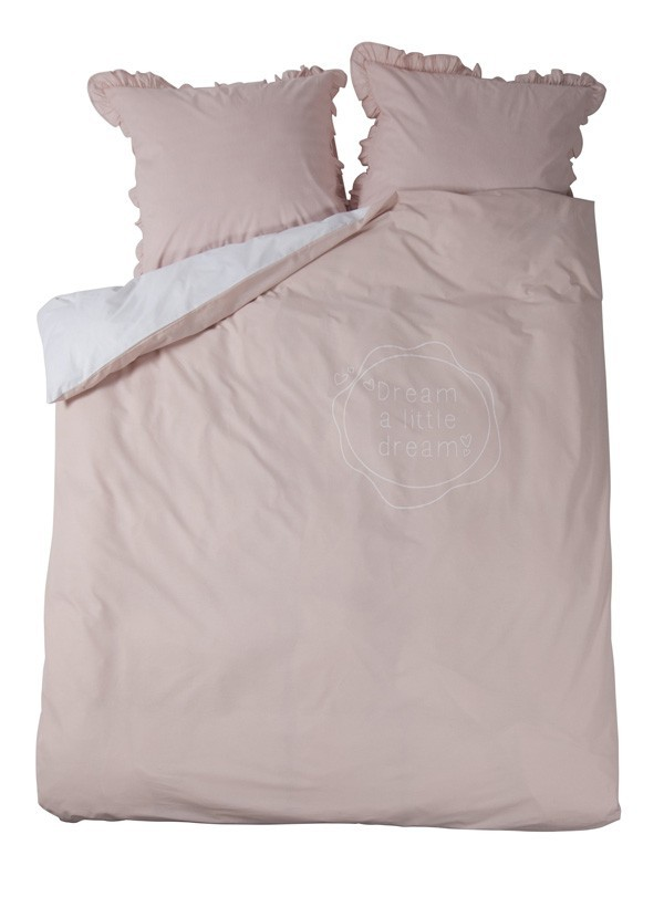 Stapelgoed Dekbedovertrek 2-Persoons Little Dreams - kleur: Roze - Stapelgoed