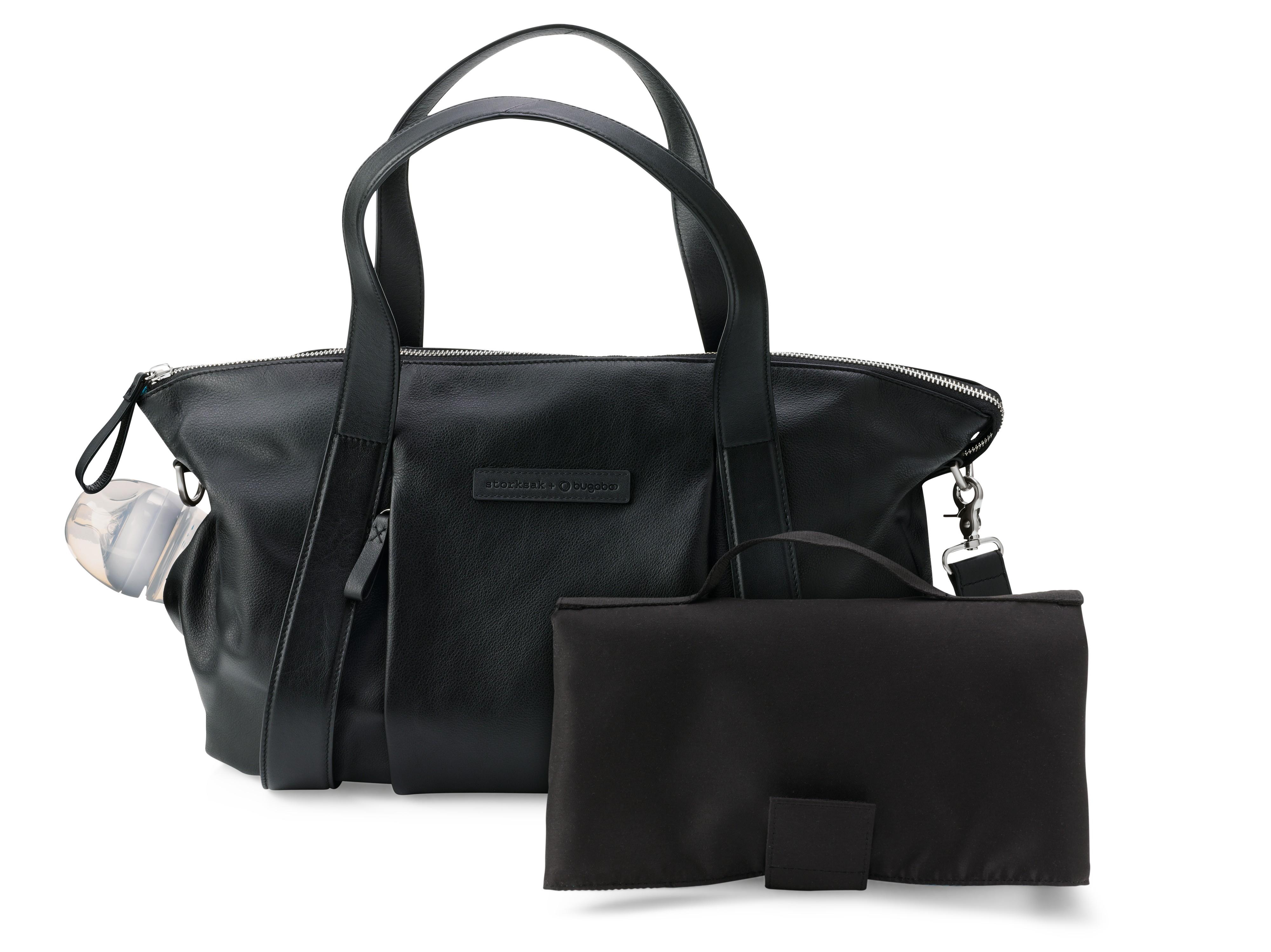 Storksak + Bugaboo Leather Bag Zwart - kleur: Zwart - Bugaboo