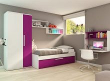 Tienerkamer Pull Out Wit / Fuchsia