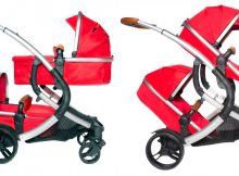 Tweeling kinderwagen X-Adventure Go4 Two in One Rood