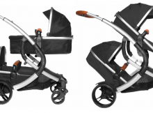 X-Adventure Tweeling kinderwagen Go4 Two in One Zwart
